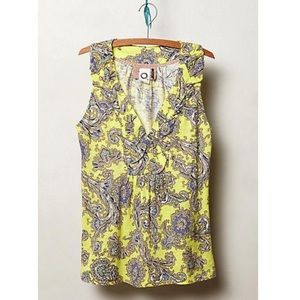 Anthropologie Akemi + Kin Yellow Hauraki Tank Top